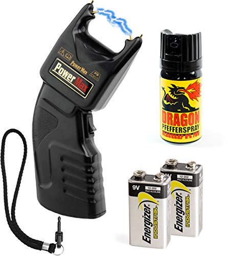 Security-Discount Germany - PTB Elektroschocker 500.000 Volt inkl. Batterien und Dragon Pfefferspray