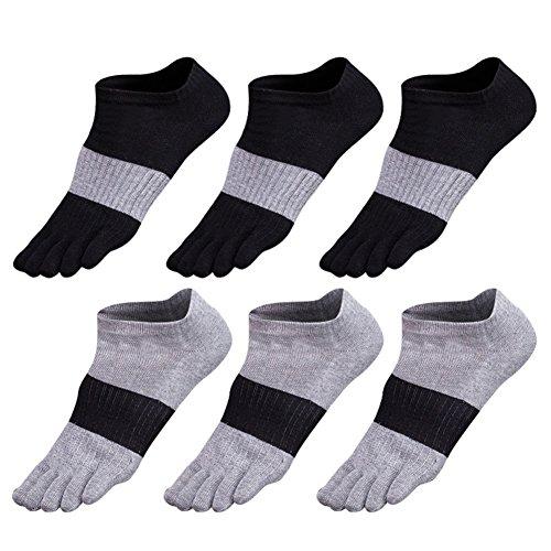 Zehensocken herren 5-6 Paar Männer Sport laufende Zehen Socken Sportsocken