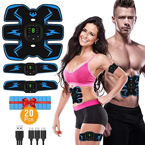 VICTOOM Muskelstimulation Elektrostimulation EMS ABS Bauchtrainer Trainingsgerät, Bauchmuskeltrainer für Damen Herren
