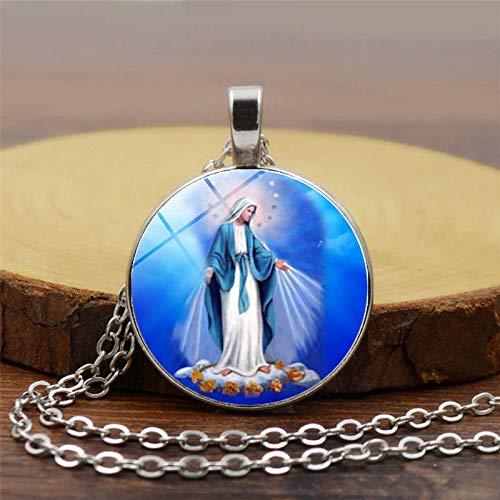 Weihnachtskrippen-Anhänger, Weihnachtsschmuck, Maria, Jesus, religiöse Halskette, spirituelle Inspiration