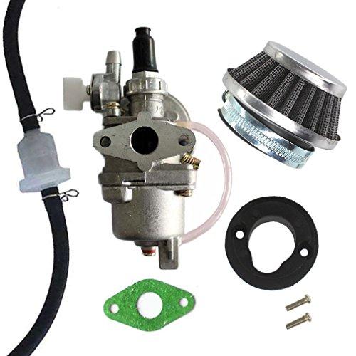 AISEN Vergaser mit Luftfilter Benzin Schlauch Filter für 47cc 49cc Pocketbike Dirtbike Benzinhahn Pocket 2 Takt