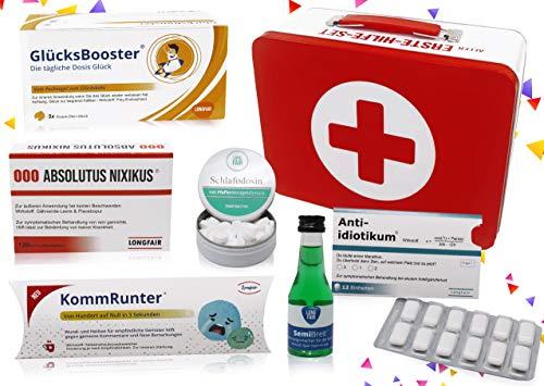Geburtstags-Geschenk   Erste Hilfe Set Geschenkbox, witziger Sanikasten   7-teilig   Spaßgeschenk