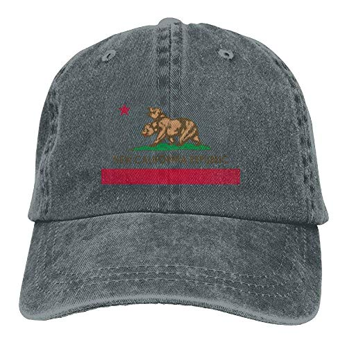 Hoswee Baseballmütze Hüte Kappe New California Republic Unisex Denim Baseball Cap Adjustable Snapback Hats