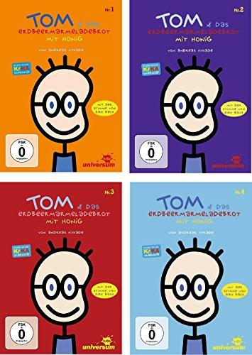 DVD Set Tom und das Erdbeermarmeladebrot mit Honig, Nr. 1-4, I-IV, 1,2,3,4