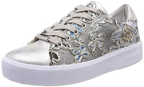 bugatti Damen 421407055969 Sneaker, Silber (Silver/Multicolour 1381), 42 EU