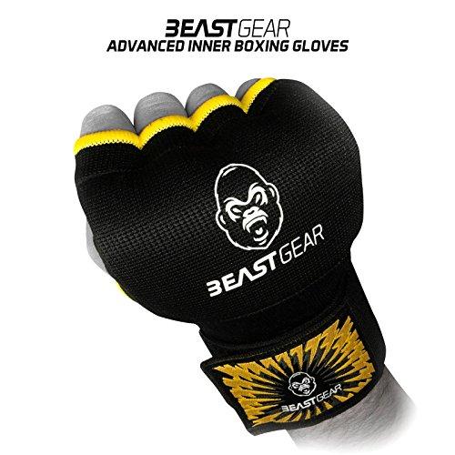 Beast Gear Pro Boxen Innenhandschuhe - Hochwertige Gel Box-Handschuhe für Kampfsport, MMA und Martial Arts - Medium