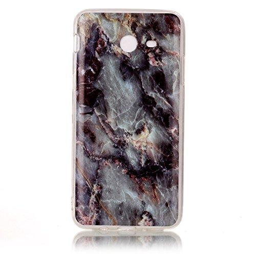 SEYCPHE Hülle Kompatibel mit Samsung Galaxy J5 2017 Handy Huelle Marmor Muster Print Dünn, Robuste Rückschale aus Kunststoff Handyhülle Schutz Case Cover - Grau