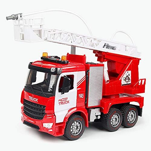 Xolye Übergroße Wassersprühfeuer-LKW-Spielzeug-Simulationsleiter-Leiter-Leiter-LKW-Modell-Leiter Rettungswagen-Junge Kinderspielzeug-Auto-Geschenk Sprinkler Engineering-LKW