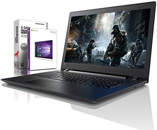 Lenovo (17,3 Zoll) Notebook (Intel Pentium 5405U 4-Thread CPU, 2.30 GHz, 8GB DDR4 RAM, 256GB SSD, 1000GB, DVD±RW, Intel HD, HDMI, Webcam, Bluetooth, USB3.0, WLAN, Win 10 Prof. 64, MS Office) #6477