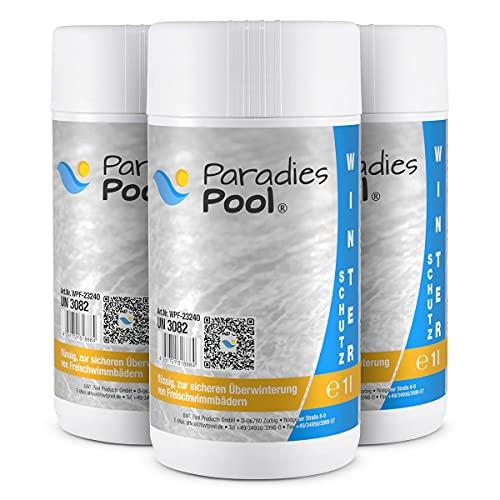 Paradies Pool Winterschutzmittel für Pool, 3 Liter schaumfrei Überwinterung Schwimmbecken