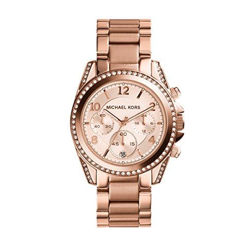 Michael Kors Damen Chronograph Quarz Uhr mit Edelstahl Armband MK5263