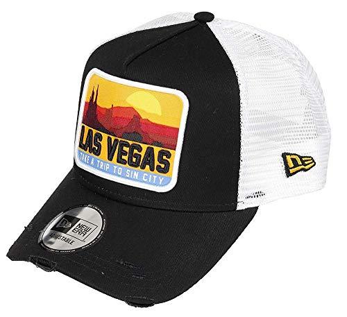 New Era Distressed Vegas 940 AF Trucker Ne Blk Kappe, Unisex Erwachsene, Schwarz, Einheitsgröße