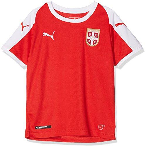 PUMA Kinder Serbia Home Shirt SS Replica Jr Trikot, Red White, 152