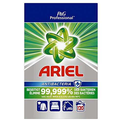 Ariel Professional Vollwaschmittel Pulver Antibakteriell 8kg– 120Waschladungen