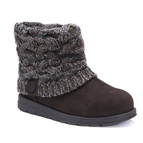 MUK LUKS Damen Women's Patti Boots modischer Stiefel, Französisches Schloss, 39 EU