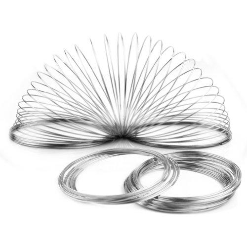 Des Mall 100 Windungen Speicher Draht Memory Wire Spiraldraht Schmuckdraht für Armband