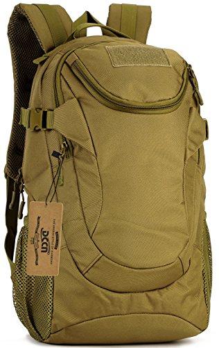 DCCN Taktischer Rucksack 25L MOLLE Schultasche Daypack Mini Trekkingrucksäcke mit Regenhülle