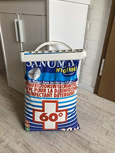 Desinfektionswaschmittel Sanomat Hygiene 20 kg inkl. Trage- und Verschlusshilfe