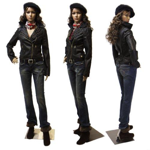 Eurotondisplay Schaufensterpuppe mit 2 Perücken gratis SF-11 webiliche Schaufensterpuppen Female Mannequin