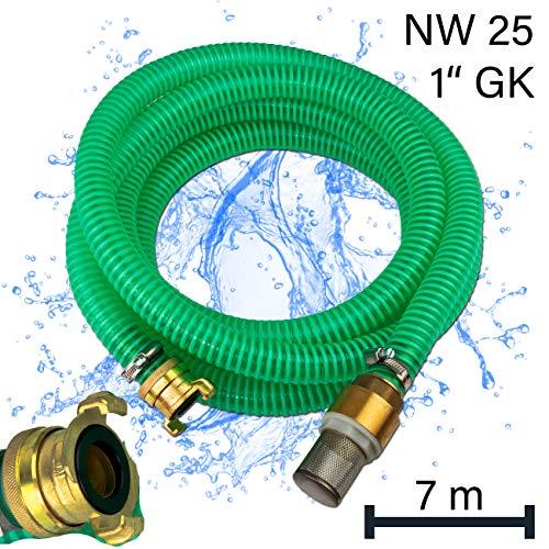 Stabilo-Sanitaer Ansauggarnitur 7m 1 Zoll Sauggarnitur Saugschlauchgarnitur Saugschlauch Saugleitung mit GK-Kupplung Hauswasserwerk