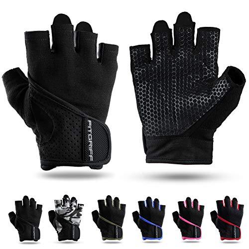 Fitgriff® Trainingshandschuhe für Damen und Herren - Fitness Handschuhe ohne Handgelenkstütze für Krafttraining, Bodybuilding, Kraftsport & Crossfit Training - Gym Workout Gloves