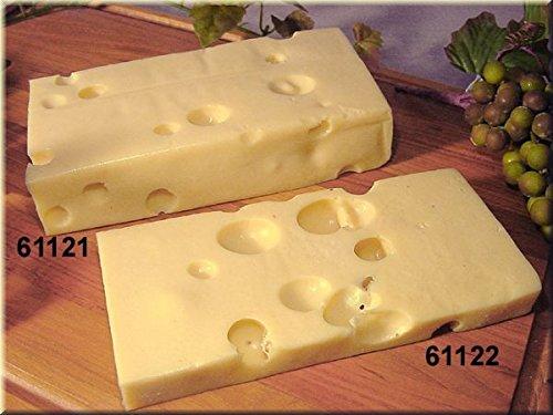 ERRO Emmentaler Käse-Stück schmal - Nur das schmale Stück Wird geliefert. Lebensmittelattrappe, Fake Food, Deko, Käseattrappe, ausgefallene Geschenkidee