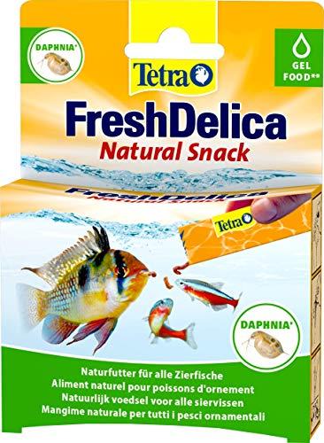 Tetra FreshDelica Daphnia Leckerbissen als Gelfutter für alle Zierfische, 16 x 3g
