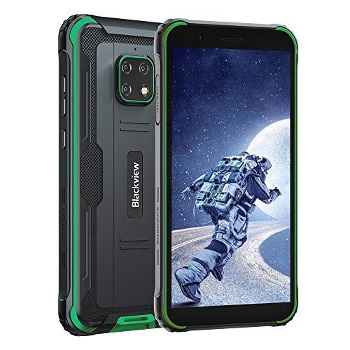 Blackview BV4900 (2020) Outdoor Smartphone ohne Vertrag (Android 10, 5580mAh Akku, 3GB RAM+32GB ROM, NFC, Gesichtserkennung) 5,7 Zoll Display 4G Dual SIM Handy IP68 Wasserdicht Grün