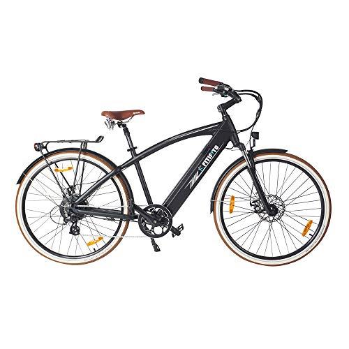 Fitifito CC28 Zoll Elektrofahrrad Citybike E-Bike Pedelec, 48V 250W Bafang Motor, 13Ah 624Wh Samsung Akku, 7 Gang Shimano Retro schwarz