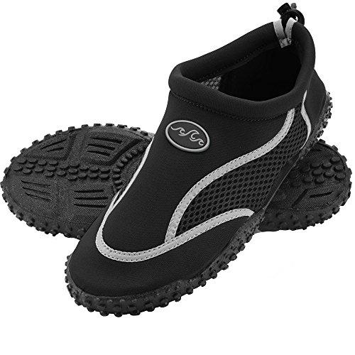 Deuba Wasserschuhe Badeschuhe Surfschuhe Strandschuhe Herren Größe 45 schwarz/grau