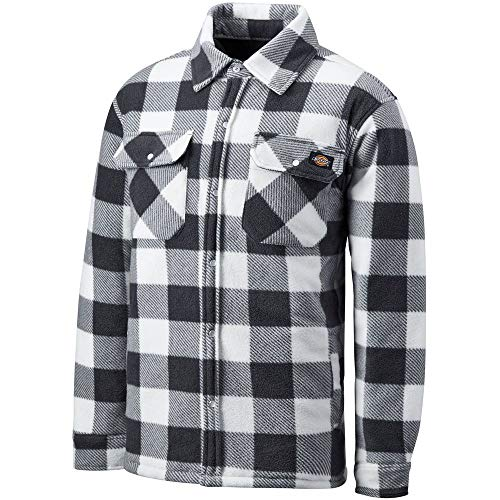 Dickies Hemd/T-Shirt Thermohemd Portland White/Grey-L