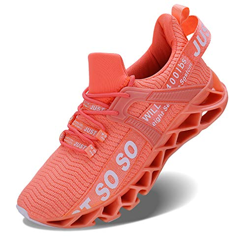 Vivay Damen Laufschuhe Walking Athletic für Frauen Casual Slip Fashion Sports Outdoor-Schuhe, Orange Orange, 40 EU