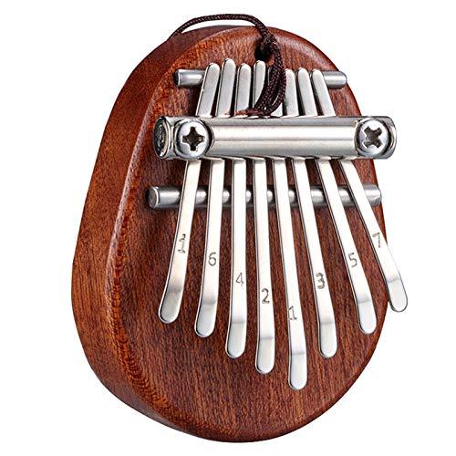 YSTSPYH Daumen Klavier 8 Schlüssel Mini Kalimba Exquisite Finger Thumb Piano Marimba Musical Gutes Zubehör Anhänger Geschenk (Color : Dark Brown)