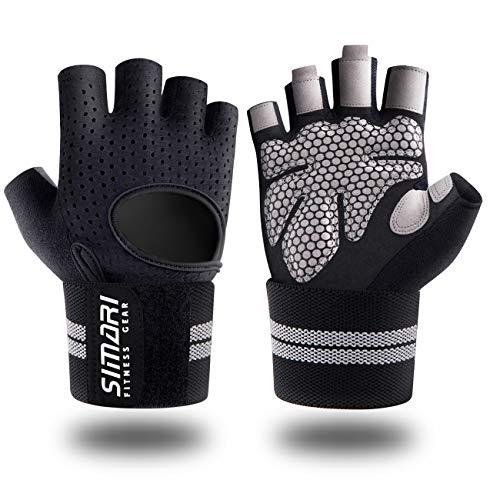 SIMARI Trainingshandschuhe Männer Frauen volle Finger Gewichtheben Handschuhe mit Handgelenk Unterstützung für Gym Übung Fitness Training Aufzüge aus SMRG902