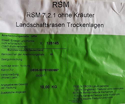 RSM 7.2.1 ohne Kräuter / Landschaftsrasen Trockenlagen 10 Kg