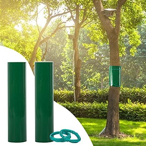 2 Stück 3m×15cm Leimring Leimfalle Baumleimring Klebeband für Bäume,Verhindern Sie, DASS Raupen, Ameisen und andere schädliche Insekten auf Bäume Klettern,Inklusive 2 Stück Bindedraht