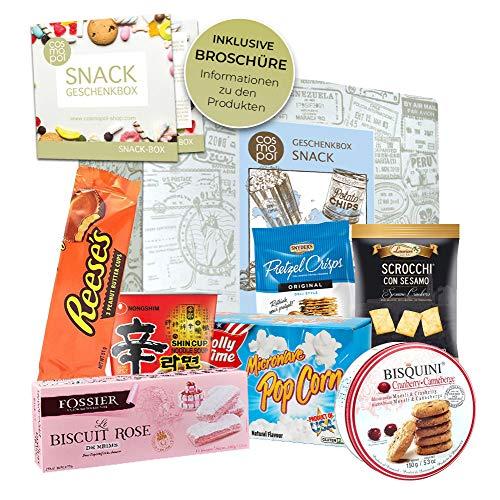 Geschenkidee Snack Box | Geschenkset Für Naschkatzen Männer Frauen | Snacks Und Süßigkeiten Aus Aller Welt | Besondere Geschenkidee I Probierset