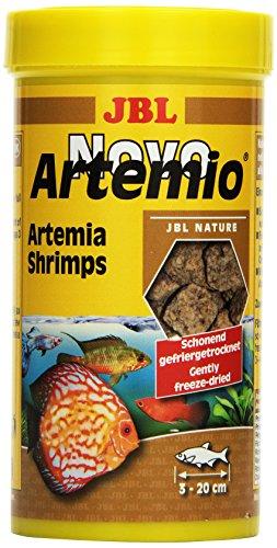 JBL NovoArtemio 30264 Ergänzungsfutter für alle Aquarienfische, Gefriergetrocknete Artemia-Krebse, 250 ml