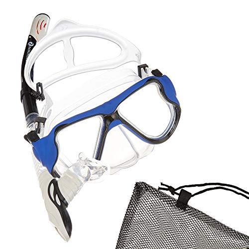 Sportastisch Schnorchelset Snorkel Star mit Trocken Schnorchel Taucherbrille Beutel, Anti Beschlag & -leck Tauchmaske für Erwachsene Damen Herren Kinder, bis zu 3 Jahren Garantie² (vollgesichtsmaske)