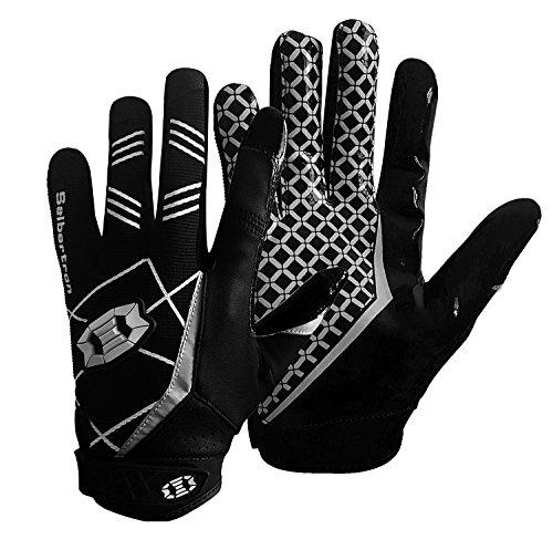 Seibertron Pro 3.0 Elite Ultra-Stick Sports Receiver/Empfänger Handschuhe American Football Gloves Jugend und Erwachsener schwarz M