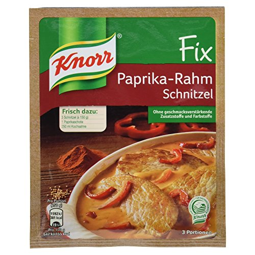 Knorr Fix Paprika-Rahm Schnitzel 3 Portionen