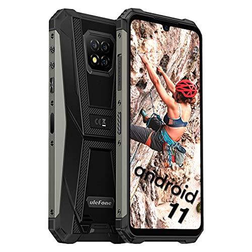 Ulefone Armor 8 Pro Smartphones Wasserdicht - Android 11 Outdoor Handys ohne Vertrag Staubdicht Fallfester AI Qcta-Core Prozessor 6+128GB 6,1-Zoll-Bildschirm 16MP+5MP+2MP+8MP Kameras (Schwarz)