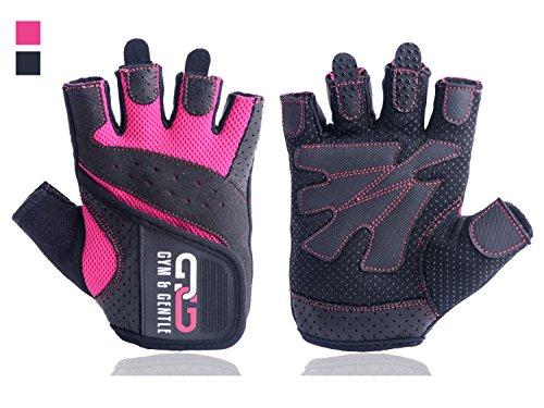 Gym & Gentle Fitness Handschuhe Damen/Herren - Trainingshandschuhe/Handgelenkstütze -Krafttraining/Bodybuilding/Crossfit (Rosa, S)