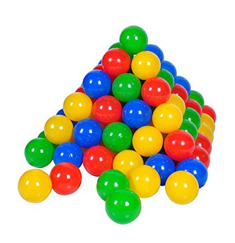 Knorrtoys 56789 - 100 Bälle in knalligem Blau, Rot, Gelb und Grün ohne gefährliche Weichmacher Ø6 cm - TÜV zertifiziert -