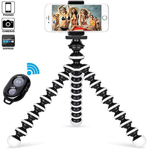Handy Stativ Smartphone für iPhone Stativ Samsung Lightweight Tripod mit Handy Halterung und Bluetooth Fernbedienung und Kamera Stativ