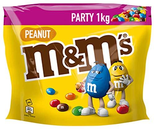 M&M'S Peanut, Schokoladenlinsen mit Erdnusskern, Party Großpackung, 1kg
