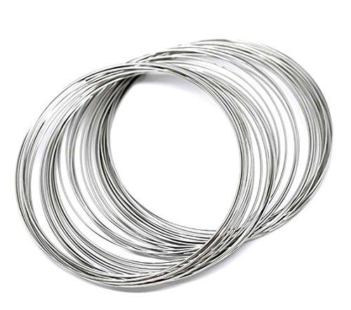 maDDma ® 200 Runden Memory Draht für Armbänder 55-60mm x 0,6mm silbern Schmuckdraht