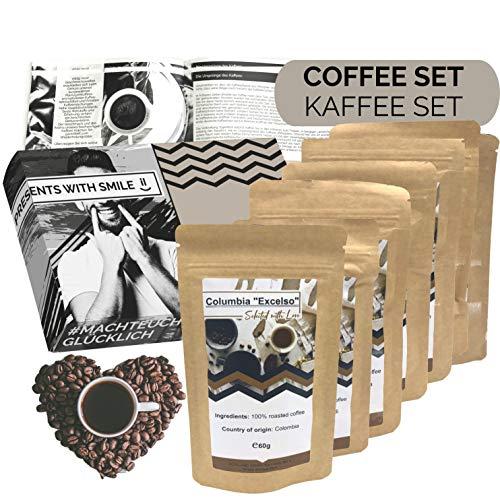 Kaffee Geschenkset Kaffee Geschenkbox   6x60g Kaffee Weltreise Geschenkidee für Frauen Freundin   Kaffeebox Geschenk Box Geburtstag Weihnachten