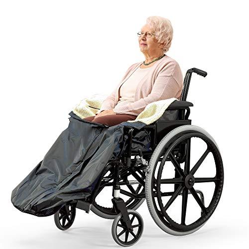 Bramble Universal Rollstuhldecke mit Fleecefutter, Fußsack, Gefütterter Schlupfsack mit Innentasche & Reißverschluss| Außen Wasserdicht, Innen Gemütlich & Warm| Schützt vor Kälte, Wind oder Regen.