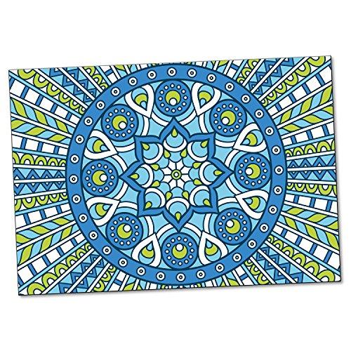 """ADDIES Postkarte """"Mandala"""", 6 teilig, 147mm x 104mm, 300g Karton, bedruckte Postkarte mit schönem spirituellen Motiv, Inspiration Motiv-3"""